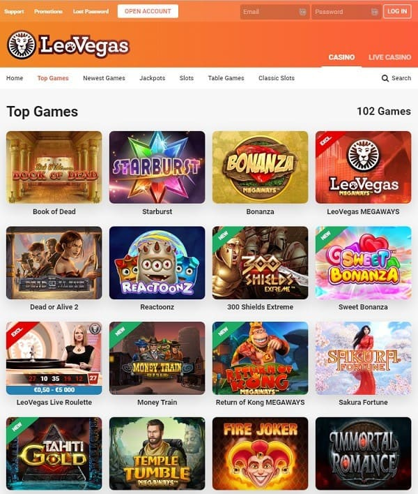 Leovegas recension Betspin 125529